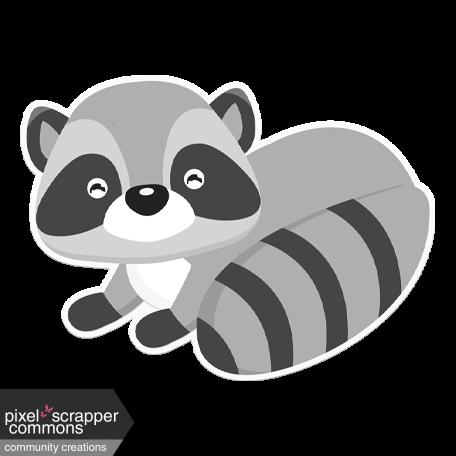 Retro Camper Kit Add-On: Racoon Sticker