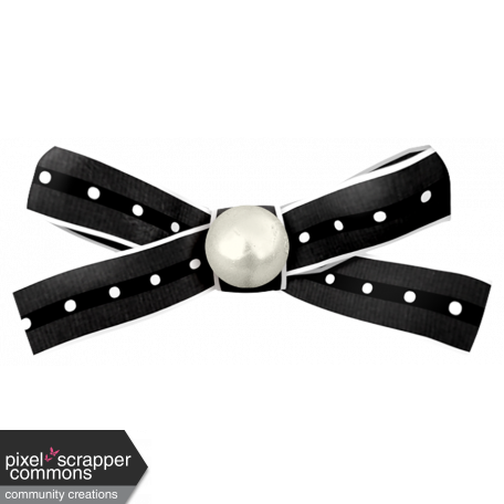 Dex Mini Kit Black and White Polka Dot Bow