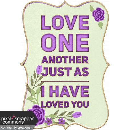 Love One Another Word Art Chipboard Frame
