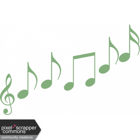 Green Paper Music Notes