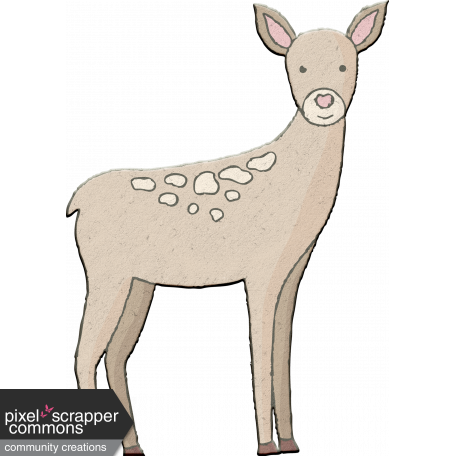 Autumn Mini Kit Chipboard Deer