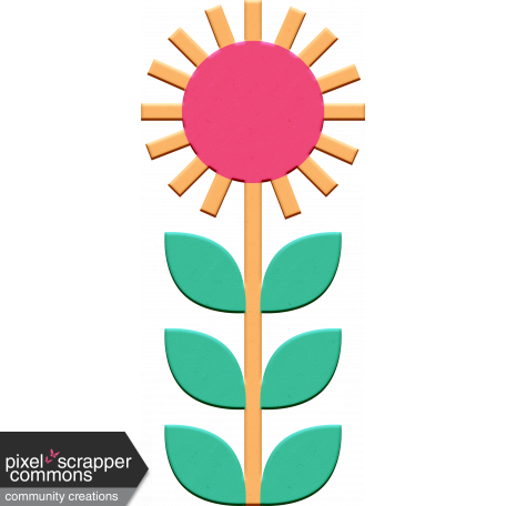 Scandinavian Element Chipboard Flower 1