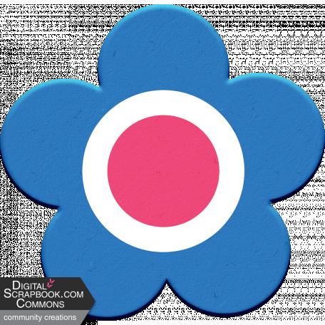 Scandinavian Element Chipboard Flower 2