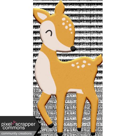 Scandinavian Element Chipboard Deer 2