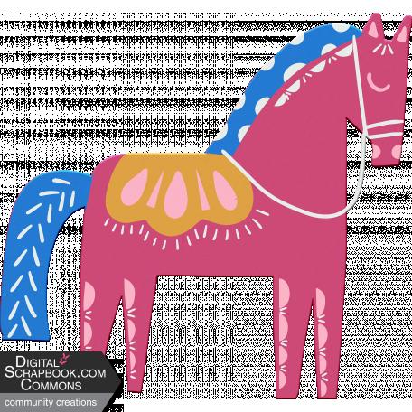 Scandinavian Element Chipboard Horse 2