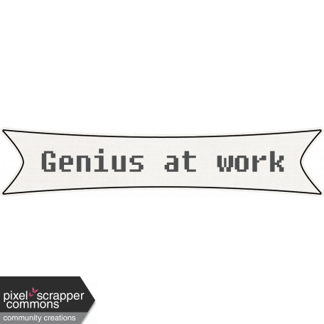 genius at work word art graphic by marcela cocco pixel scrapper