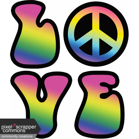 Retro 60s Groovy Love And Peace Graphic By Rebecca Sawyer Pixel