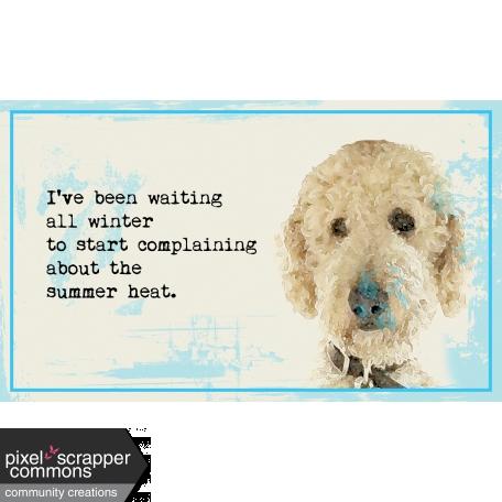 Summer Heat Goldendoodle 3x5 Card Graphic By Renee Clark Pixel