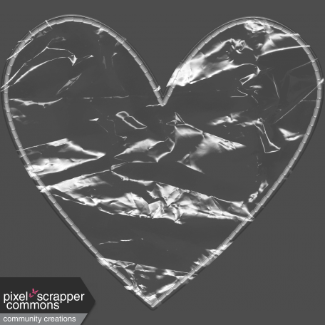 Clear Plastic Pocket - Heart