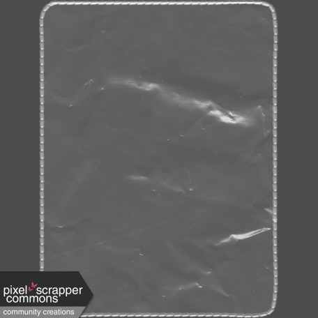 Clear Plastic Pocket - Rounded Rectangle - 3x4