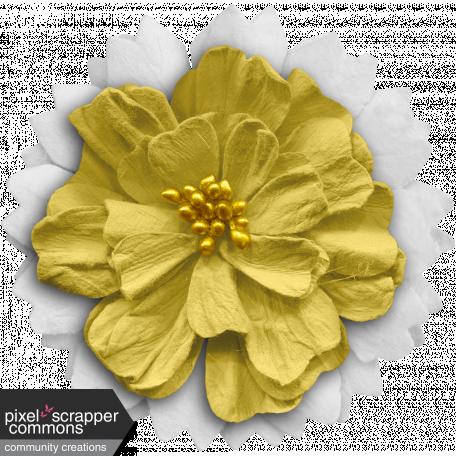 White yellow flower graphic by gina jones pixel scrapper digital white yellow flower mightylinksfo