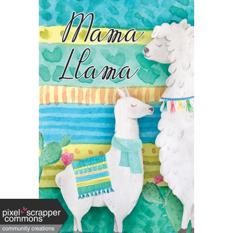 Mama Llama Journal Card (02)