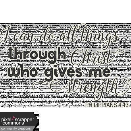 Scripture: Philippians 4:13