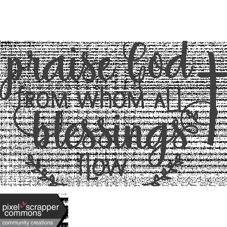 Fall In Love Stamp (praise God)