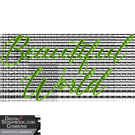 Beautiful World Word Art
