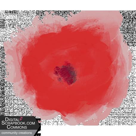 Red Gouache Flower