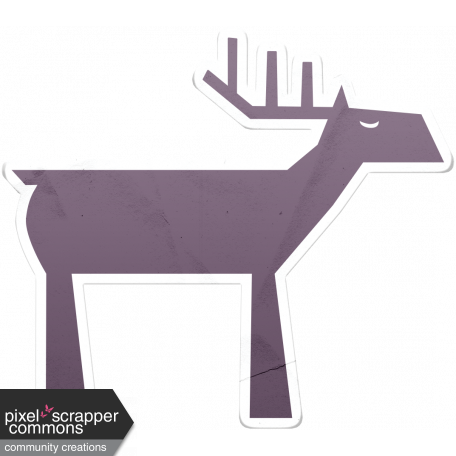 Snow Day Reindeer Sticker