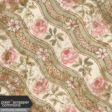 Vintage Pink Rose Pattern Waterspots