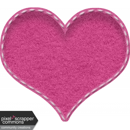 Stitched puffy felt heart