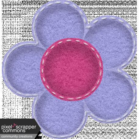 Stitched puffy felt flower