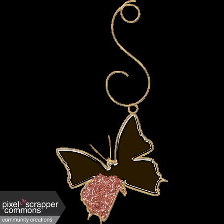 Glass Glitter Butterfly