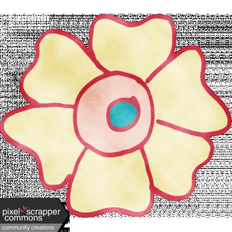 England - Watercolor Flower 09