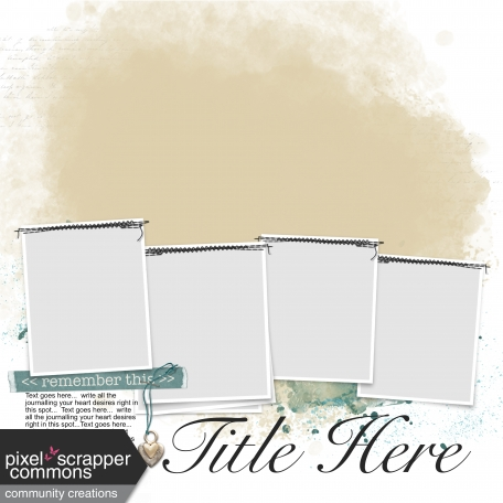 4-5 page Layout template