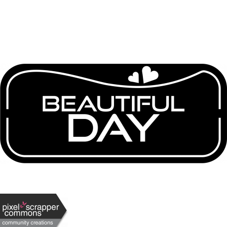 Beautiful day - label template.