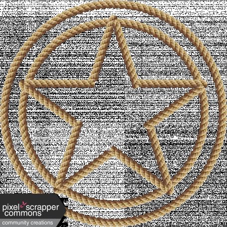 Sisal Rope Sheriff Badge Frame