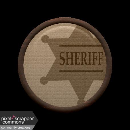 Cowboy Flair - Sheriff Badge