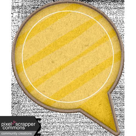 Chipboard Speech bubbles - Yellow