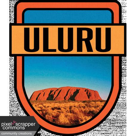 Uluru Word Art Crest