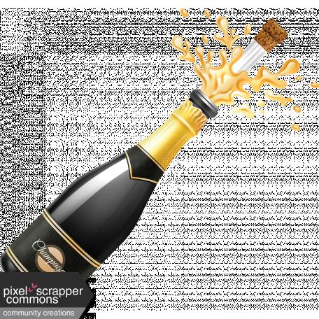 Champagne Bottle Ann Graphic