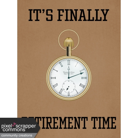 Retirement Time Pocket Watch Journal Card 4x3