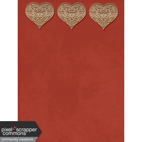 Wood Hearts Soulmates 4x3 Journal Card