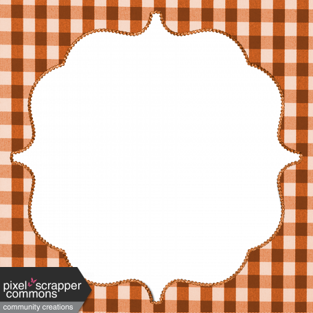 Fall Black & Orange Gingham - Frame 1 - Orange Gingham