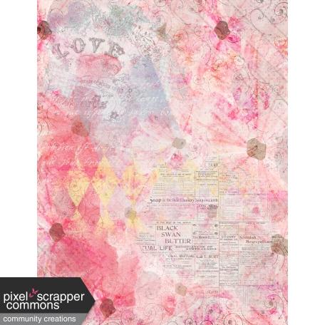 Grunged Up Florals - Paper 12