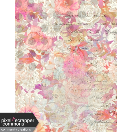 Grunged Up Florals - Paper 7