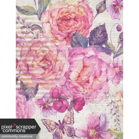 Grunged Up Florals - Paper 6