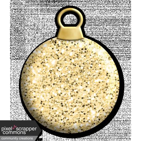 Light gold glitter bauble