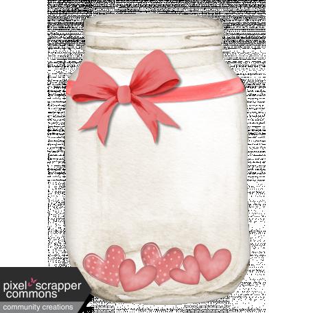 Mason Jar With Hearts