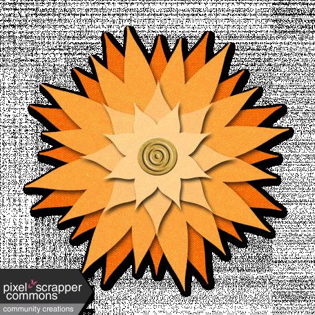 Flower - Orange fabric