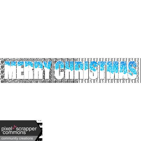 Word art - Merry Christmas