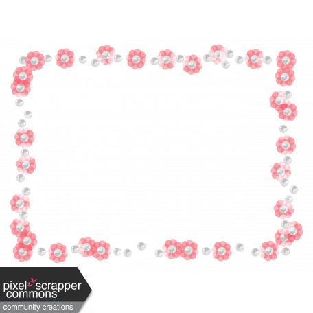 Frame – Rectangle with small transparent flowers