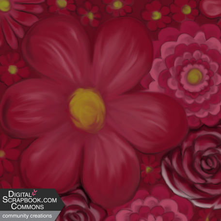flower paper red