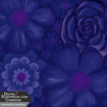 flower paper blue