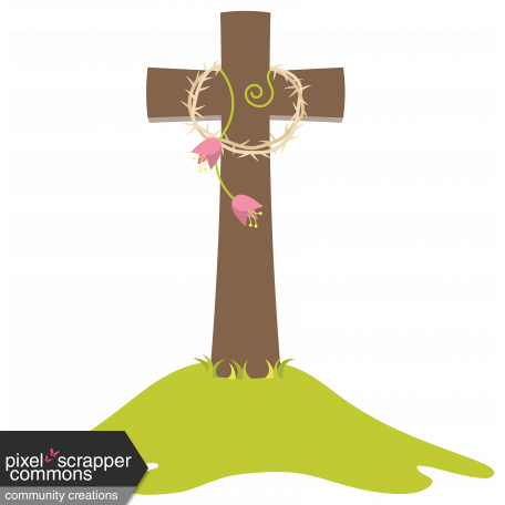 Easter 2017: Cross with Crown of Thorns 01