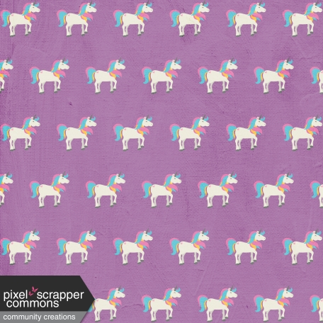 BYB Unicorn Paper, Unicorns on Purple 01
