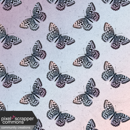 May 2021 Blog Train: Spring Flowers Patterned Paper Ombre Butterflies