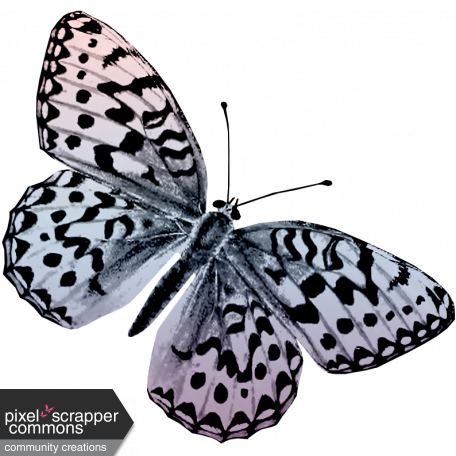 May 2021 Blog Train: Spring Flowers Butterfly 02
